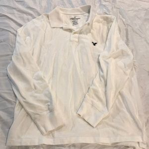 American eagle classic fit long sleeve polo shirt